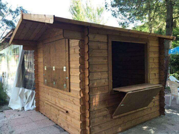 Chiosco in legno a pannelli – MADE IN ITALY