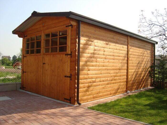 Garage in legno modello EBOX 1 posto auto