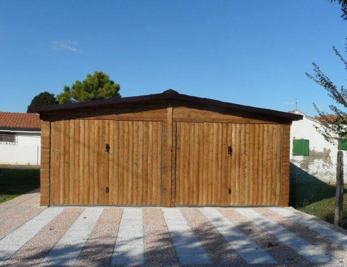 Garage in legno modello EBOX 2 posti auto