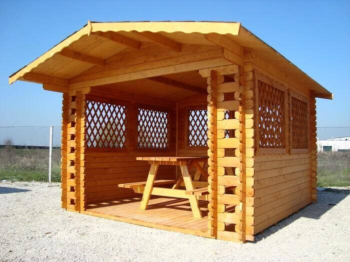 Gazebo in legno modello WILLY