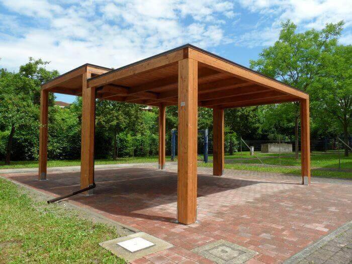 Tettoia in legno INDIPENDENTE SU MISURA